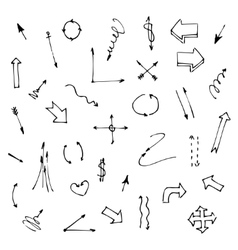 Set of various graphic arrows on a white vector image vector image