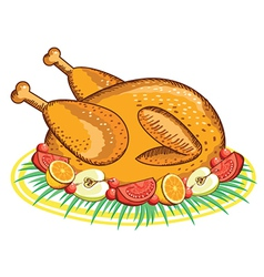 Thanksgiving turkey food vector