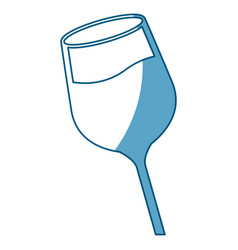 wine glass cup liquid shadow vector image vector image