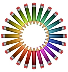 colored pencils lying around vector image