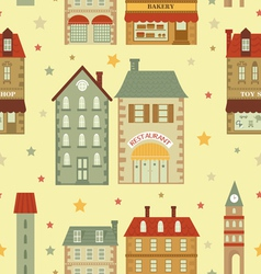 Cute city pattern vector