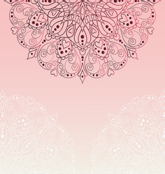 Pink invitation with lace templat vector