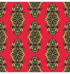 Red unusual seamless pattern vector