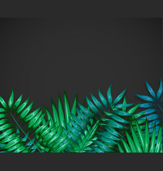 Frame of colorful tropical leaves concept of the vector
