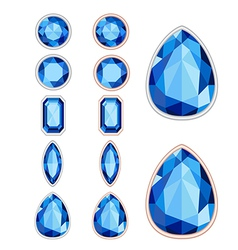 Set of five forms of sapphire cut and two kinds of vector