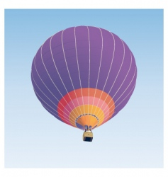 Hot air balloon illustration vector