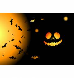 Halloween night background vector