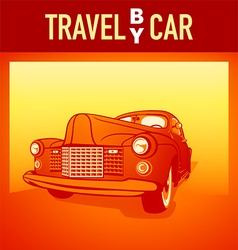 Travel by car vector image