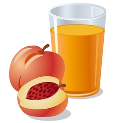 Peach juice vector