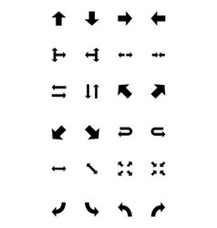 Arrows icons 1 vector