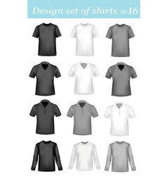 Design shirt set 16 vector