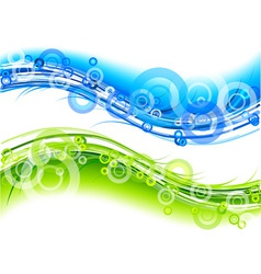 Green and blue abstract graphic vector