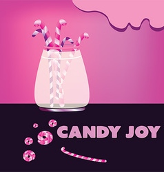 Candy joy background vector