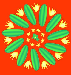 Flower cucumber vector