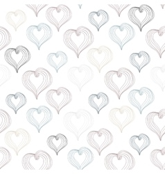 Abstract Hearts on a light background vector image vector image