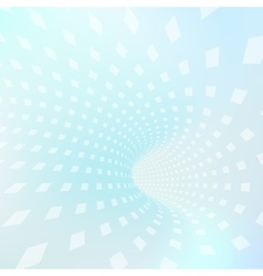 abstract tunnel with squares vector image