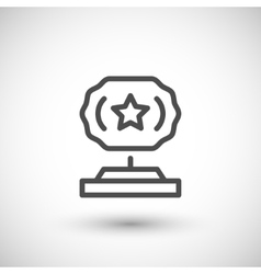Award statue line icon vector