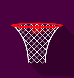 basketball hoop icon flate single sport icon from vector image vector image