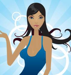 bluedress vector image