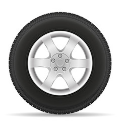 Car wheel 01 vector