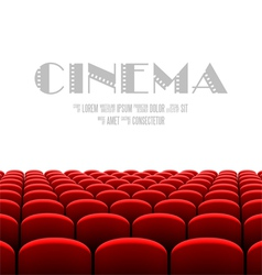 Cinema auditorium with white screen vector image vector image
