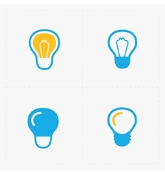 Colorful Light bulbs Bulb icon set vector image