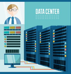 Connecting information with data center vector
