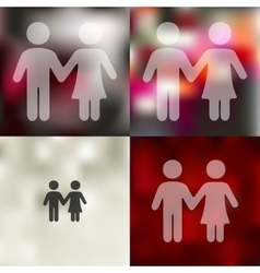 Couple in love icon on blurred background vector