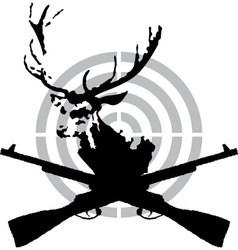 Deer hunt vector