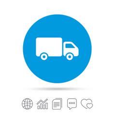 delivery truck sign icon cargo van symbol vector image vector image
