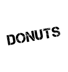 Donuts rubber stamp vector