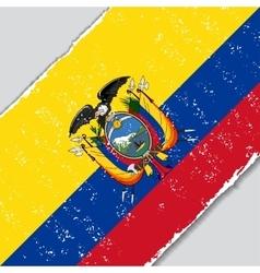 Ecuadorian grunge flag vector