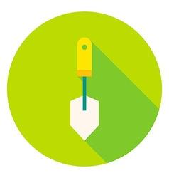 Garden Spade Tool Circle Icon vector image