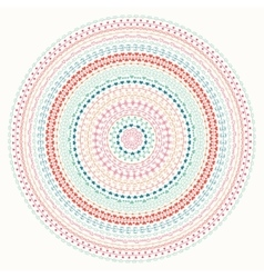 Hand drawn mandala ornament geometric pattern vector