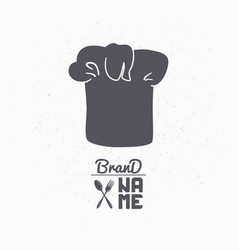 Hand drawn silhouette of chef hat vector