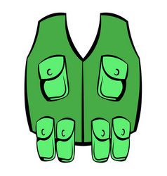hunter vest icon icon cartoon vector image