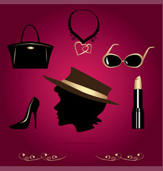 ladys accessories vector image