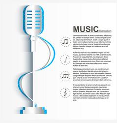 Music design concept vector