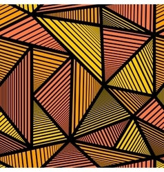 Pattern with orange triangle vector image vector image