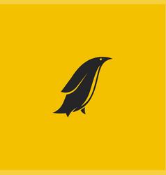 penguin logo minimal styled logo vector image vector image