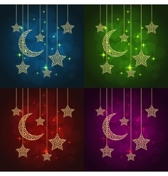 ramadan greeting cards vector image vector image