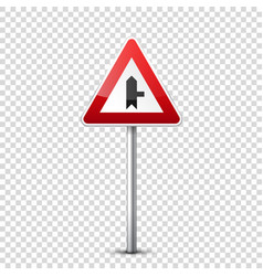 road red signs collection isolated on transparent vector image vector image