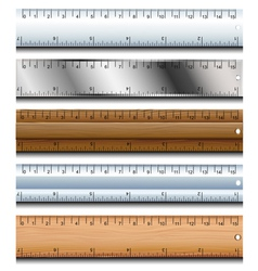 Ruler set vector image vector image