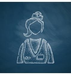 saleswoman icon vector image vector image