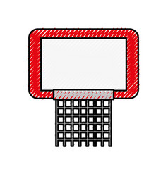 Scribble red basketball hoop vector