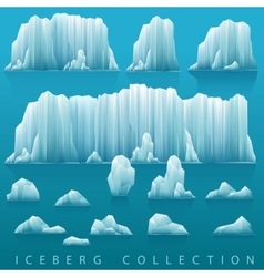 Set of icebergs and sea vector