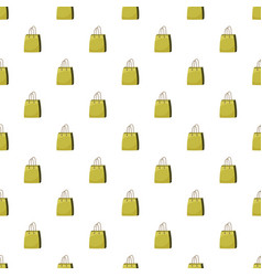 Shopping bag pattern vector
