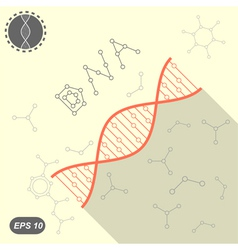 Simple DNA icon on yellow background vector image vector image