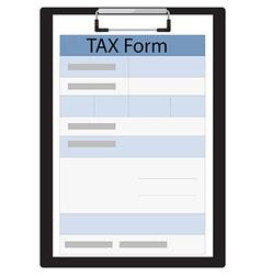 Tax form vector