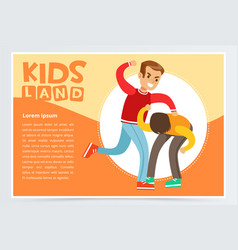 teen boy beating by classmate kid suffering from vector image vector image